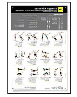 TRX Training All Body Advanced Strength Poster, Improve Body