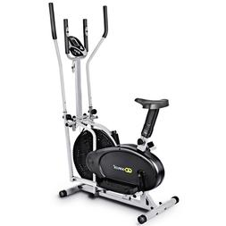 Two in One Elliptical Dual Cross Trainer Fan Bike Exercise F