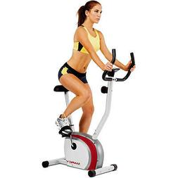 Marcy Upright Exercise Bike with Pulse, Adjustable Seat, and