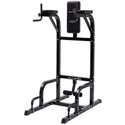 Goplus Power Tower w/Dip Station Vertical Knee Raise Multi-F