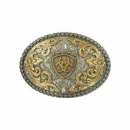 Ariat Western Belt Buckle Oval Filigree Shield Berry Edge Si