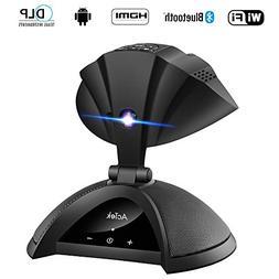 AcTek ET Mini Projector, Wireless Phone Projector Portable D