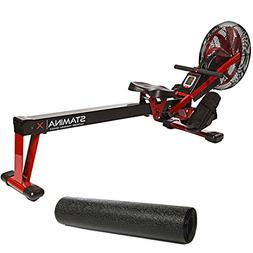 Stamina X Air Rower, Red and Fold-to-Fit Folding Equipment M